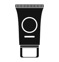 Cosmetic cream tube icon simple style vector