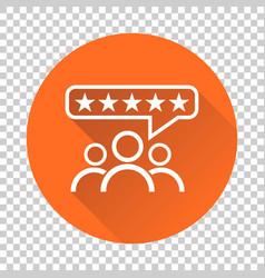 Customer reviews rating user feedback concept vector