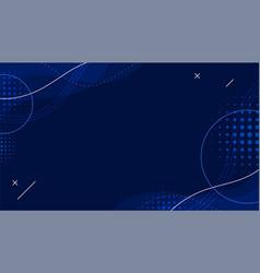 Dark blue halftone memphis background vector