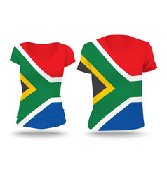 Flag shirt design of South Africa vector image