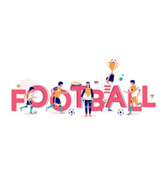 football typography banner template flat vector image