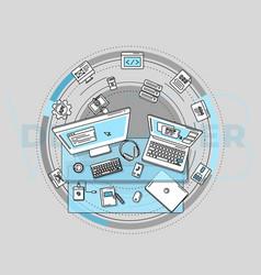 For promotion web development vector