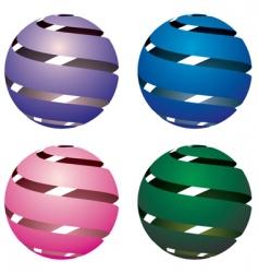 Four globes vector