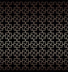 Golden art deco seamless pattern black and gold vector