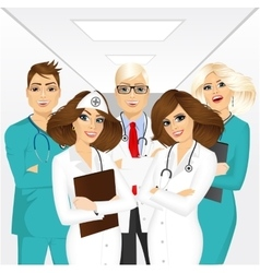 group of medical team professionals vector image