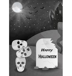 Happy halloween gravestone vector