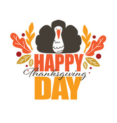 Happy thanksgiving day autumn holiday celebration vector