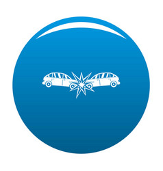 Head collision icon blue vector