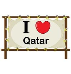 I love qatar vector