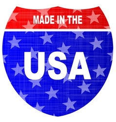 Interstate made in the usa sign vector