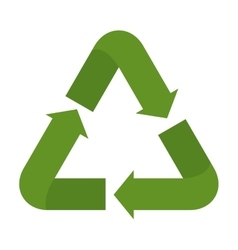 Isolated green recycle design vector