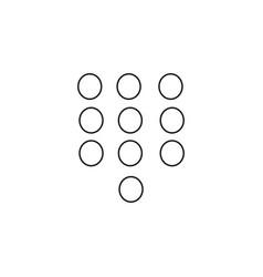 Keypad icon vector