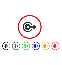Log out rounded icon vector