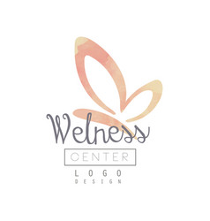 logo with silhouette of butterfly and lettering vector image
