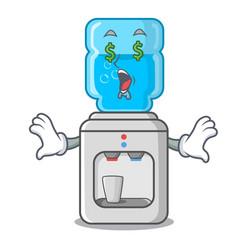 Money eye modern water cooler isolated on mascot vector