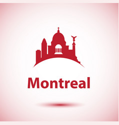 montreal canada detailed silhouette vector image