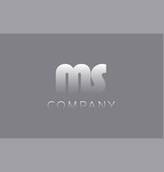 Ms m s pastel blue letter combination logo icon vector
