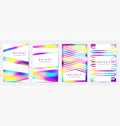 multicolor geometric backgrounds cover templates vector image