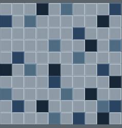 old blue tile pattern vector image