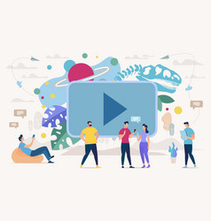 Online education with video content concept vector