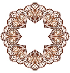 Ornate circle pattern in indian style vector image