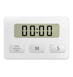 oven timer mockup realistic style vector image