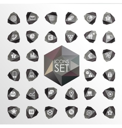 Polygonal modern icons Set of elements vector
