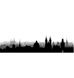 prague city czech skyline view cityscape with vector image