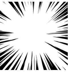 radial lines for comic book explosion texture vector image
