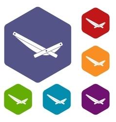 Recliner icons set vector