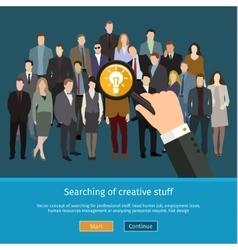 Recruitment or selection concept vector