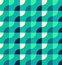 retro geometric blue pattern vector image