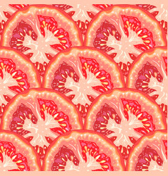 seamless pattern of tomato slices vector image