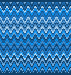 seamless pattern with colorful blue waves vector image