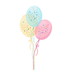 Set bunches and groups color glossy helium vector