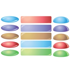 set colorful buttons for websites vector image