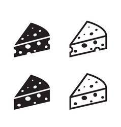Set of cheese icon object vector