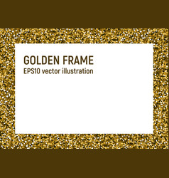 straight golden frame vector image