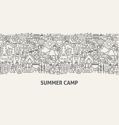 Summer camp banner concept vector