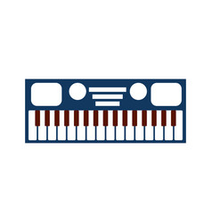 synthesizer electronic instrument keyboard musical vector image