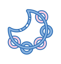 Tambourine music instrument to melody harmony vector
