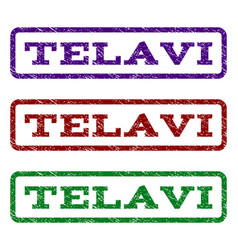 Telavi watermark stamp vector
