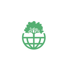tree planet logo vector image