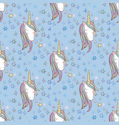 Unicorn rainbow seamless pattern vector