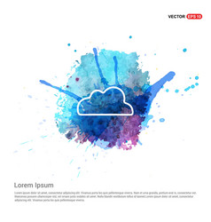 Weather clouds icon - watercolor background vector