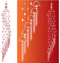 Wind Chimes Design element vector image