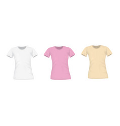 woman t shirts front view vector image