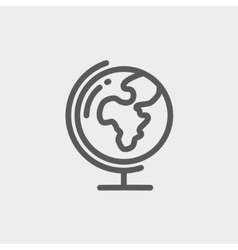 World globe with stand thin line icon vector image