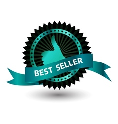 Best Seller label with red ribbon vector image vector image