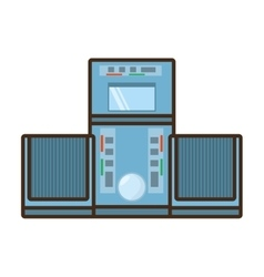 cartoon tape recorder music appliance vector image